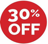 30 percent off