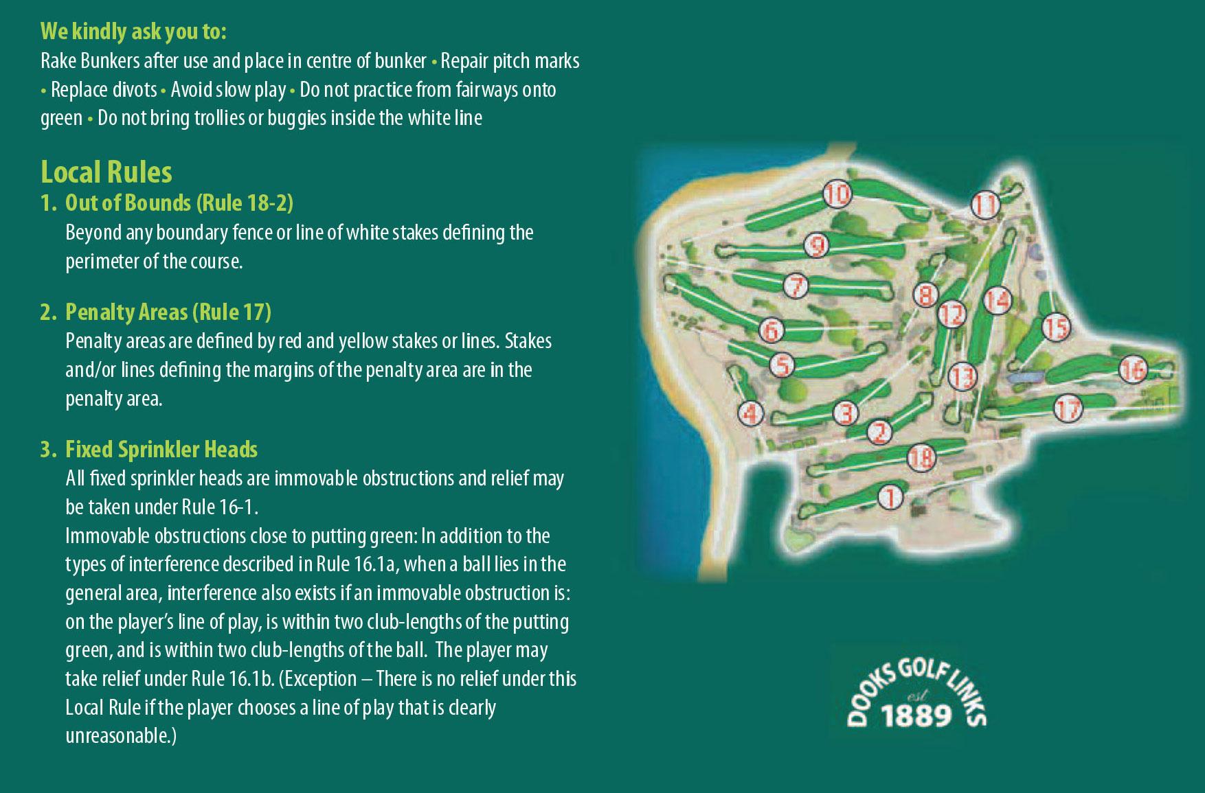 dooks golf links map